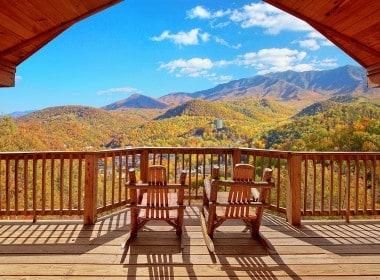 View from the Deck at an Elk Springs Resort Gatlinburg Cabin