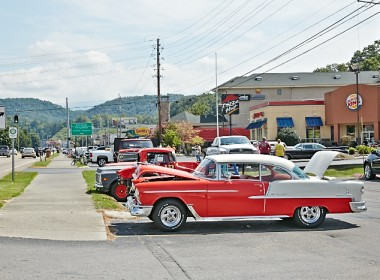 Some classic cars at the Pigeon Forge Rod Run 2013